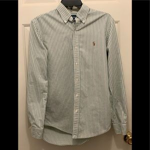 Nice Green & White Ralph Lauren Polo Shirt